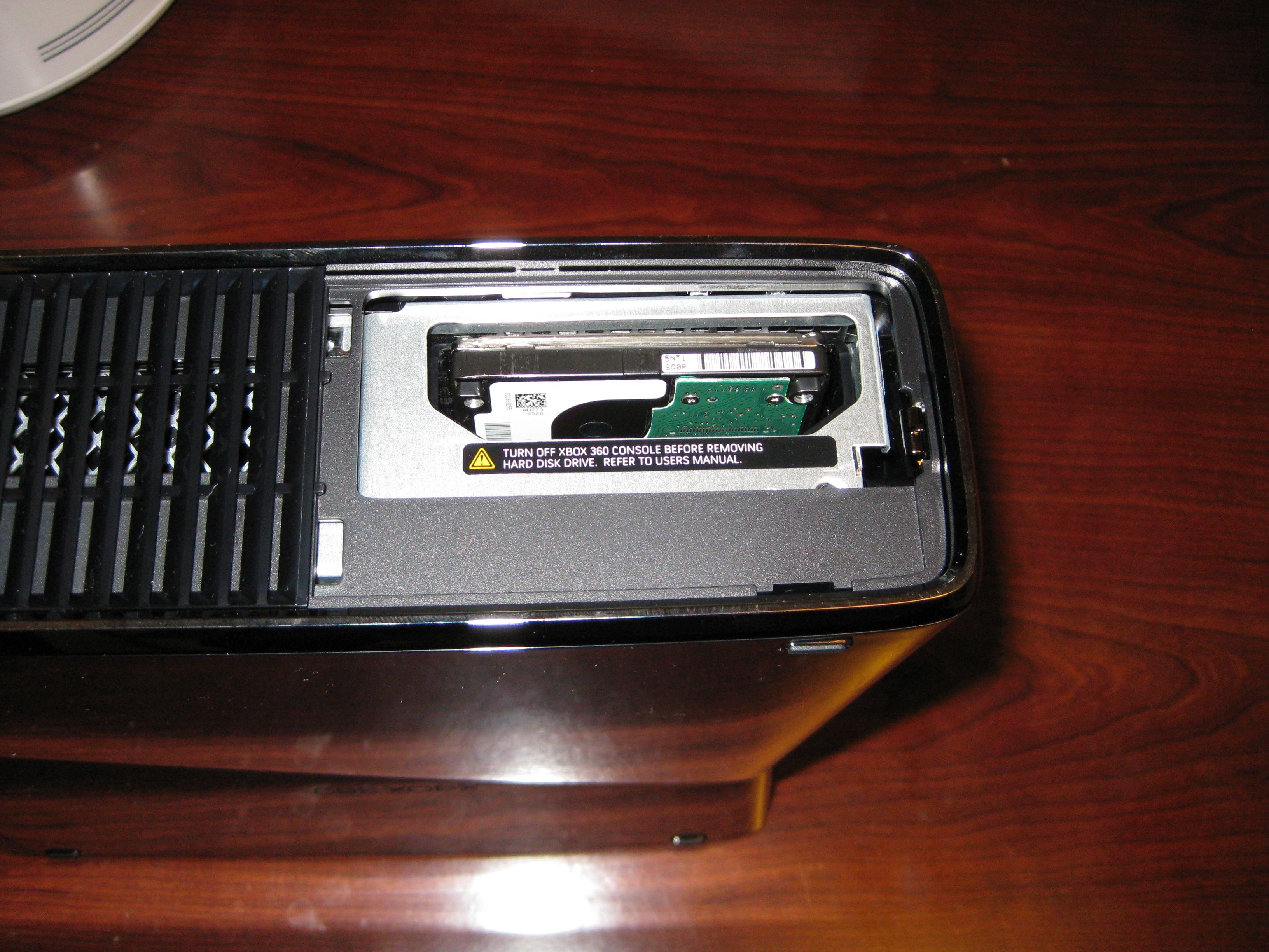 Xbox 360 Slim Hard Drive Slot Xbox 360 Slim Hard Dri...